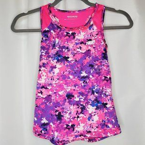 Sketchers Pink and Purple Floral Girls Tank Top